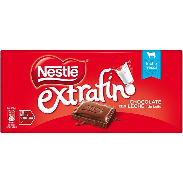 CHOCOLATE NESTLE EXTRAFINO 125 g.