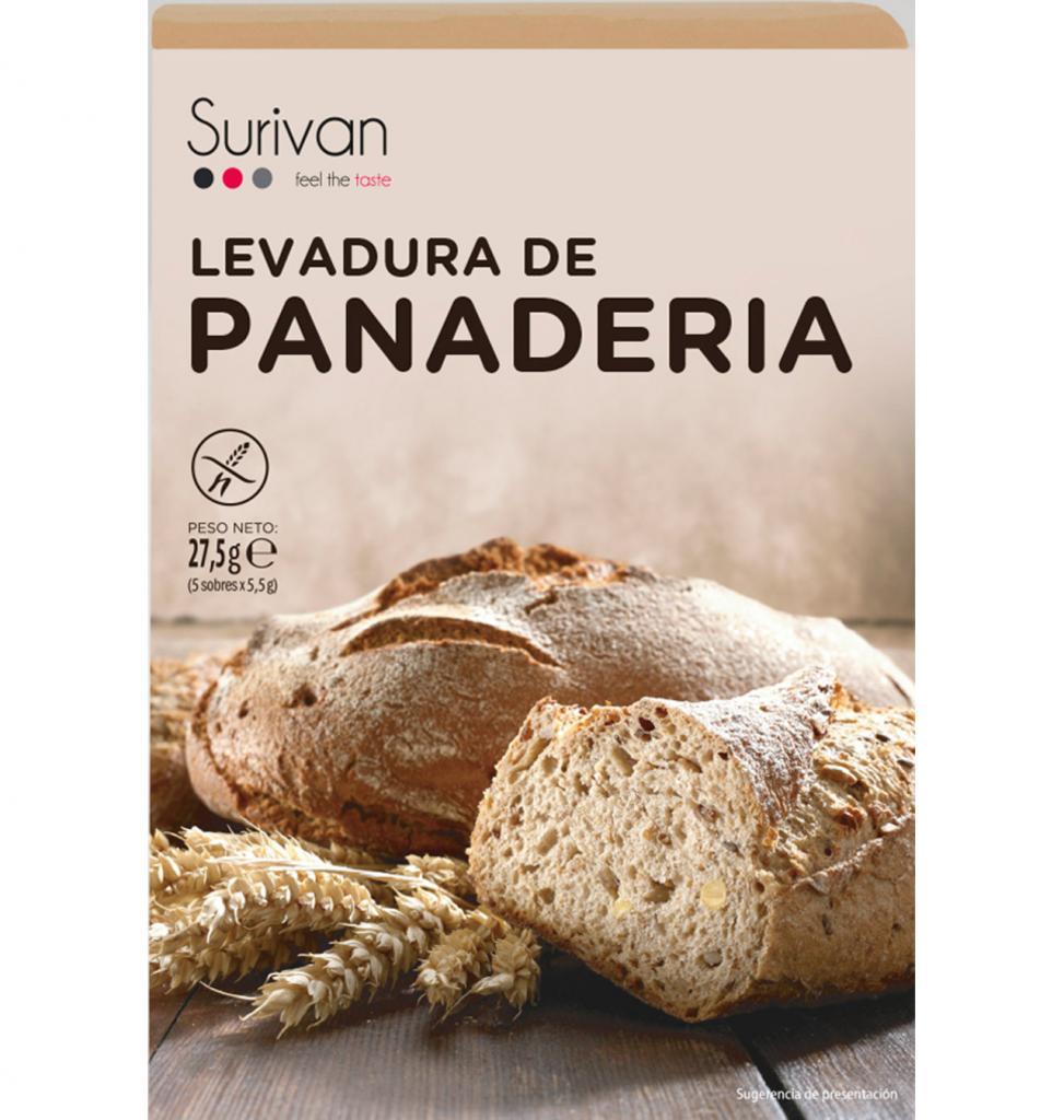 LEVADURA DE PANADERIA SURIVAN 5 x 5,5 g.