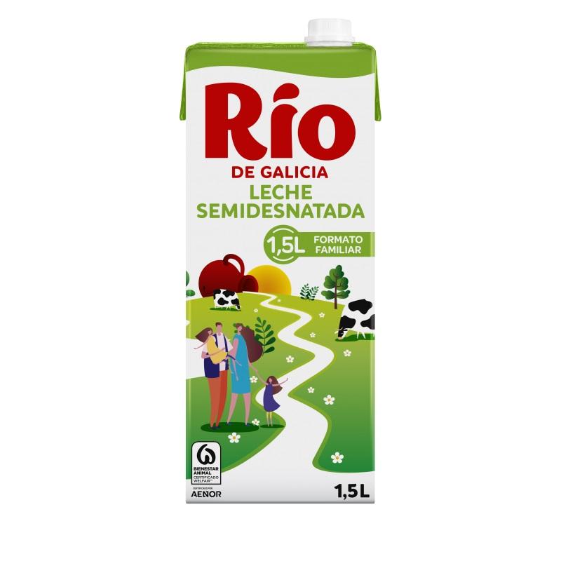 LECHE RIO SEMIDESNATADA 1L