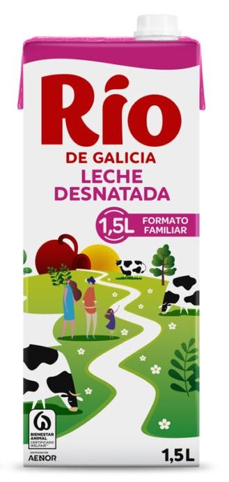 LECHE RIO DESNATADA 1L