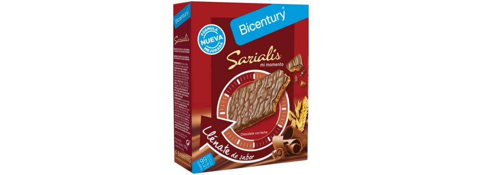 BARRITA BICENTURY SARIALIS CHOCOLATE LECHE 120g.
