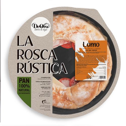 ROSCA DEORO RUSTICA LOMO BACON QUESO 480g.