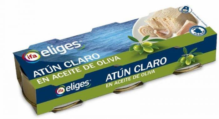 ATUN CLARO EN ACEITE OLIVA IFA ELIGES  3x80g.