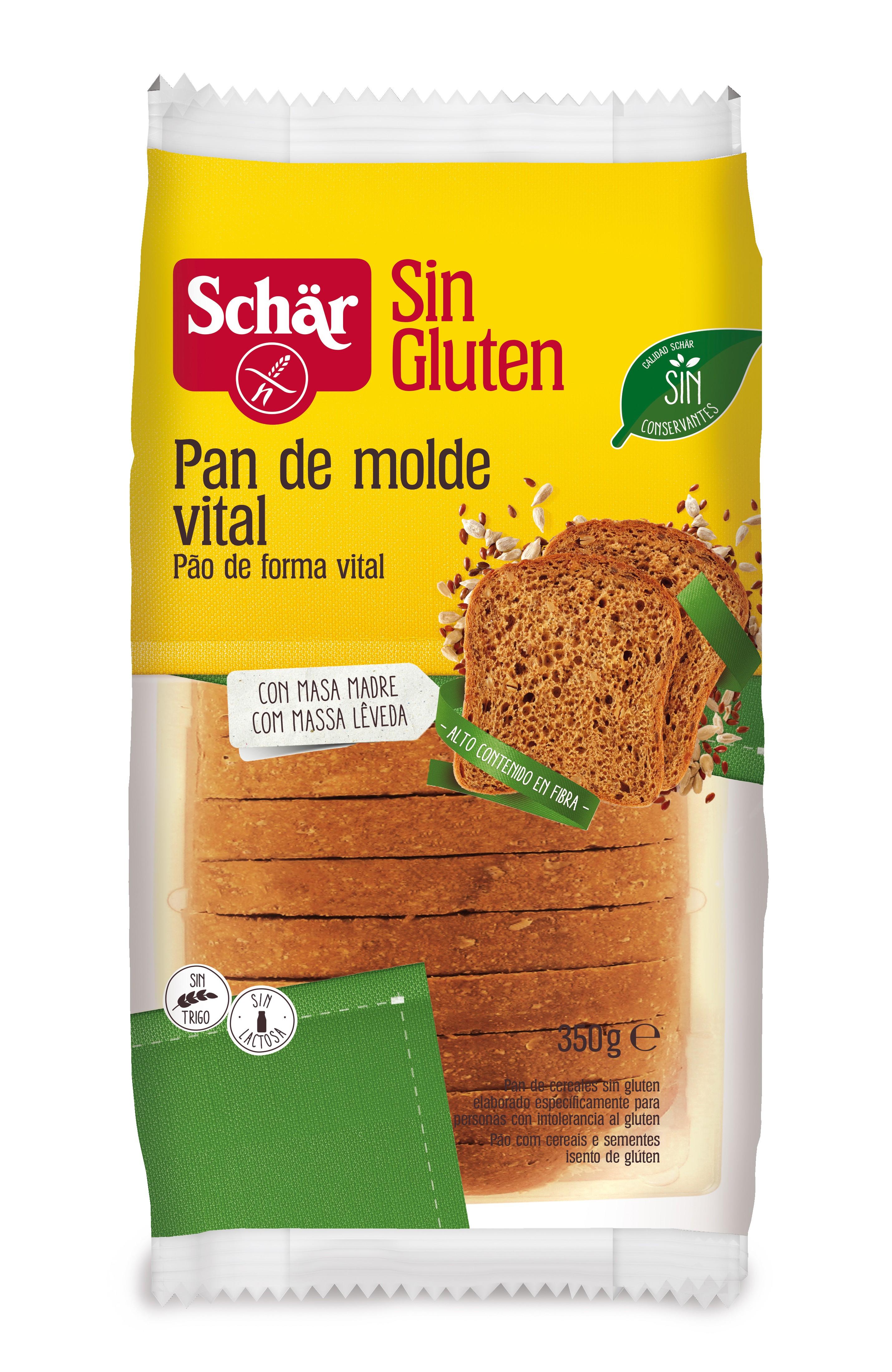 PAN DE MOLDE SCHAR VITAL S/GLUTEN 350G